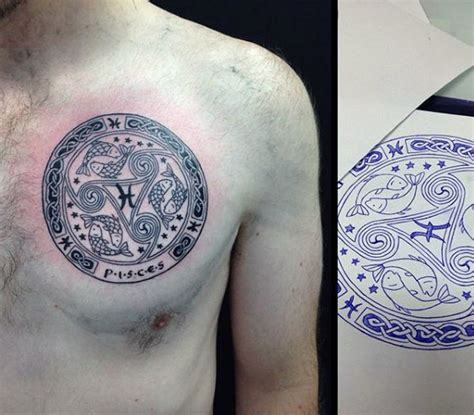 60 pisces tattoos for men astrology ink design ideas