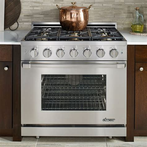 Dacor 36 Inch Gas Cooktop - dacor rnrp36gsngh 36 inch freestanding gas range with 6