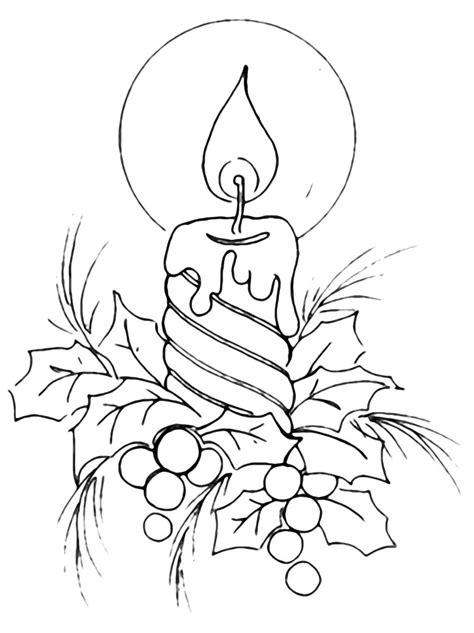 candela natalizia da colorare natale candela di natale con vischio