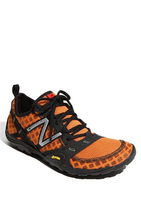 orange running shoes new balance minimus trail running shoe in orange for