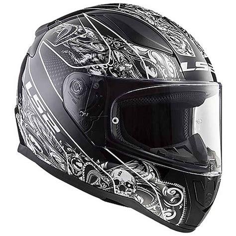 motorsiklet kask ls ff crypt yaks siyah beyaz
