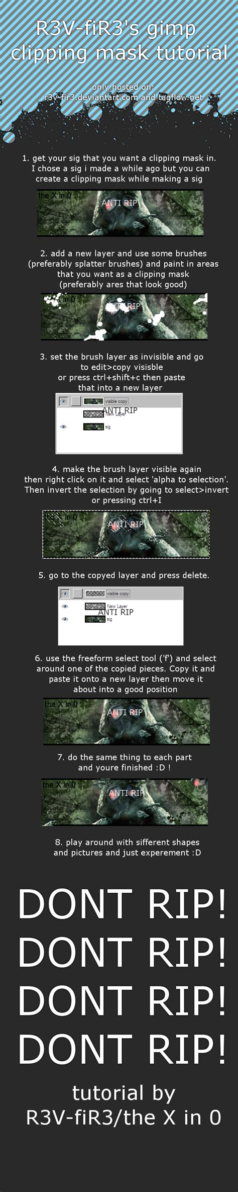 gimp tutorial mask gimp clipping mask tutorial by r3v fir3 on deviantart