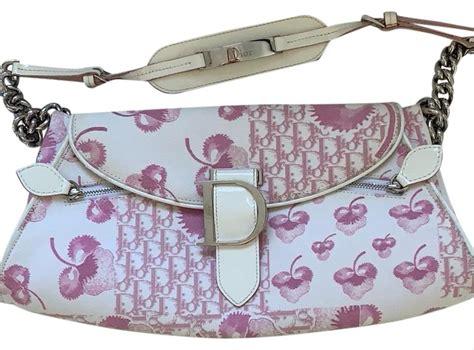 dior monogram pink canvas hobo bag tradesy