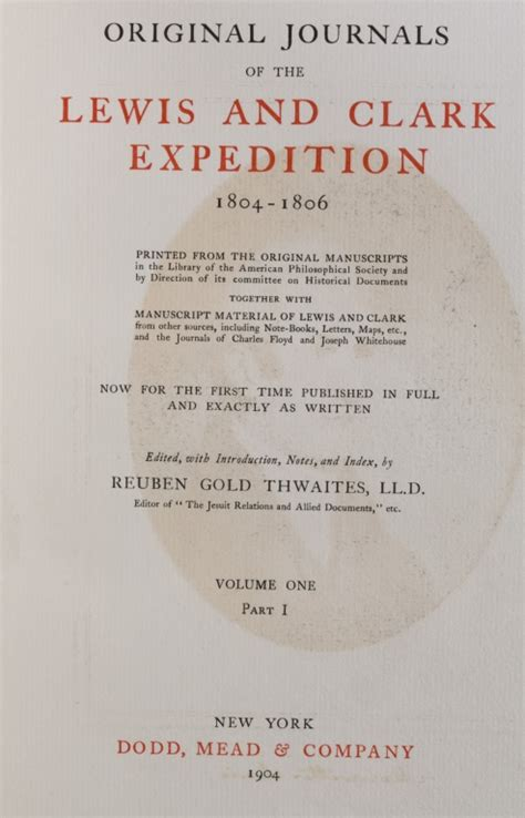 original journals of the lewis and clark expedition 1804 1806 printed from the original manuscripts in the library of the american philosophical together with manuscript material of lewi ebook original journals of the lewis clark expedition