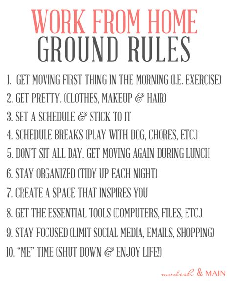 Working Online From Home - working from home ground rules modish main