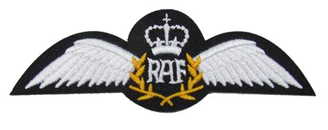 Wing Pilot Badge Us Air Usaf Emblem raf pilot wings iron or sew on embroidered patch badge air r1634
