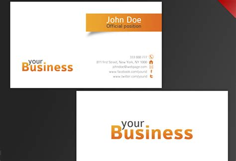 buisiness card template 30 beautiful business card design templates