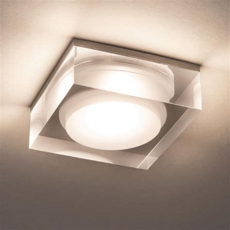 whitby bathroom flush mount light ceiling fitting led recessed bathroom downlight with attractive glass surround