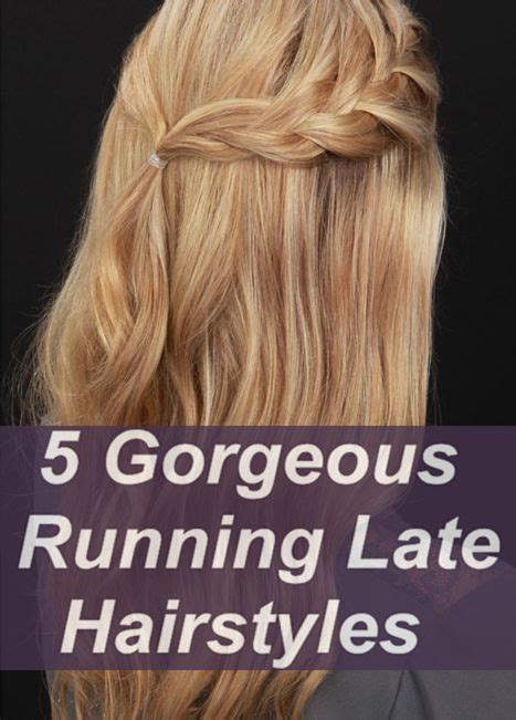 cute hairstyles for jogging 5 gorgeous running late hairstyle keep one to keep time
