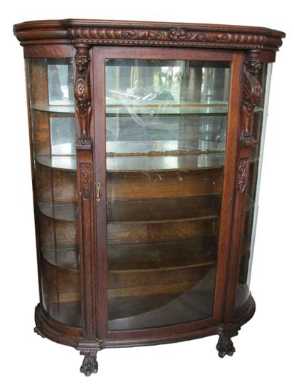 antique china cabinet 1900s oak china cabinet circa 1900 wooden nickel antiques