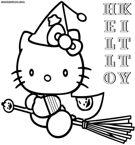 hello kitty witch coloring pages hello kitty halloween greeter decorations shop the