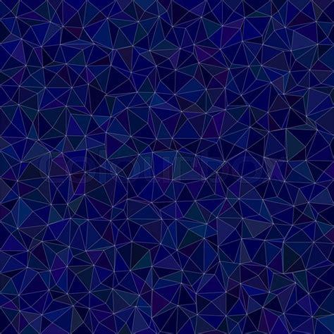 dark blue irregular triangle mosaic stock vector