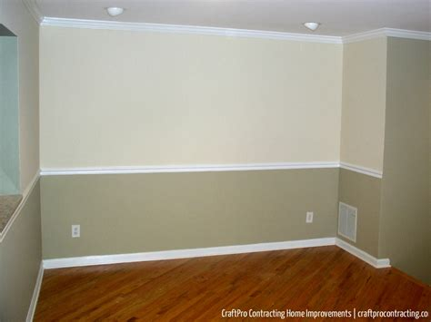 chair rail color schemes home painting walls two colors as split by a chair rail