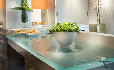 Recycled Countertop Materials glass kitchen countertops by thinkglass idesignarch