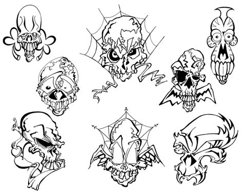 tattoo flash of skulls wamececi free skull tattoo flash