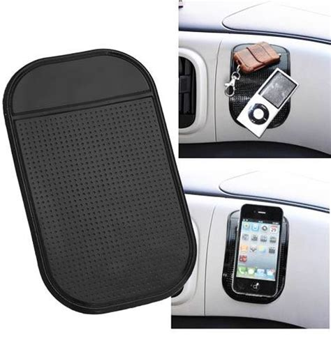 Pad Anti Slip Mat Mobil Sticky Black in car dashboard mat mobile phone coins holder anti slip