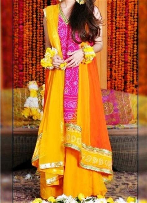 Indian Home Decoration Tips Mehndi Mayon Yellow Dress Frock Stylish Designs 2015 Indian