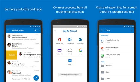 outlook email application for android microsoft revs outlook for android and ios will integrate features and kill the