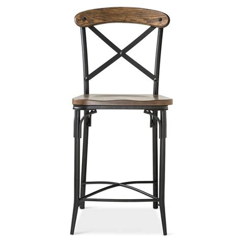 Steel Counter Stool by Bralton 23 Quot Counter Stool Steel Brown Target