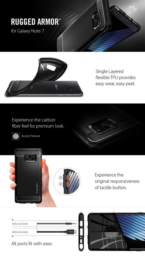 Rugged Capsule Spigen Carbon Iphone 7 Air Cushion jual spigen samsung galaxy note7 note 7 rugged