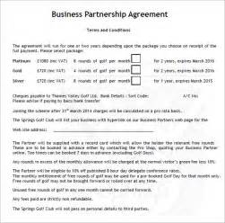 Free Business Contracts Templates Business Partnership Agreement 9 Download Documents In