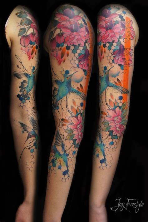 watercolor arm sleeve tattoo 25 best watercolor sleeve ideas on