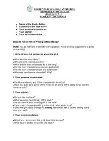 Book Report Writer Book Review Format