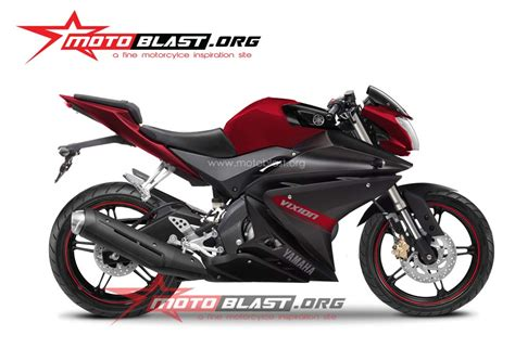 Vixion Black Modification by Modif Yamaha New Vixion Half Fairing R125 Motoblast