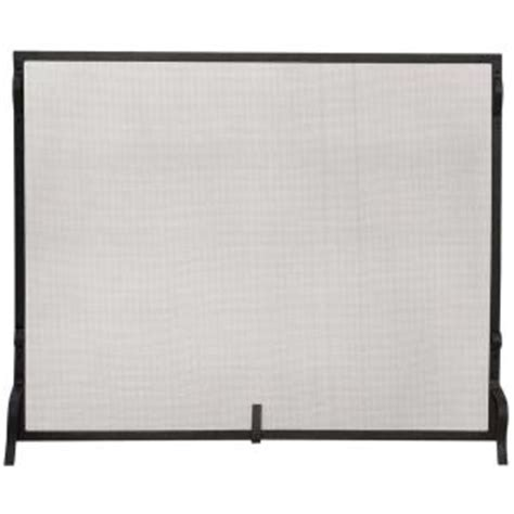 Fireplace Screens At Home Depot by Uniflame Black Wrought Iron Medium Single Panel Sparkguard