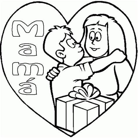 dibujos para colorear regalo del da de la madre ni 241 o abraza a su mam 225 en el d 237 a de la madre