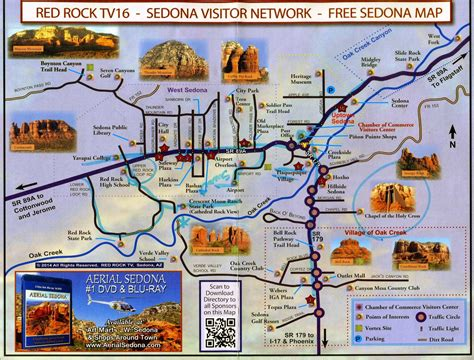 sedona map mariette s back to basics rock country sedona arizona