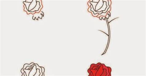 tutorial menggambar mawar kerajinan anak sd paud cara langkah menggambar bunga