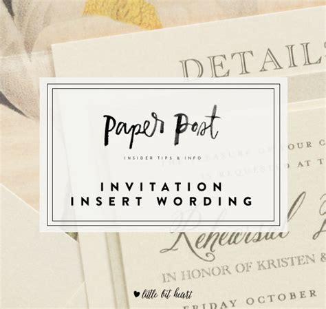 Wedding Invitation Insert Sles by Wedding Invitation Inserts Wording Wedding Invitation Ideas