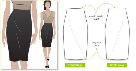 stylearc fay skirt sewing pattern