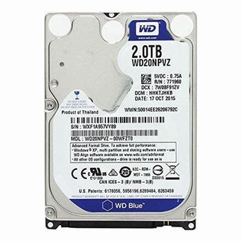 Hardisk Wd 2tb wd 2tb wd20npvz sata 3 hdd disk drive ln72259 scan uk