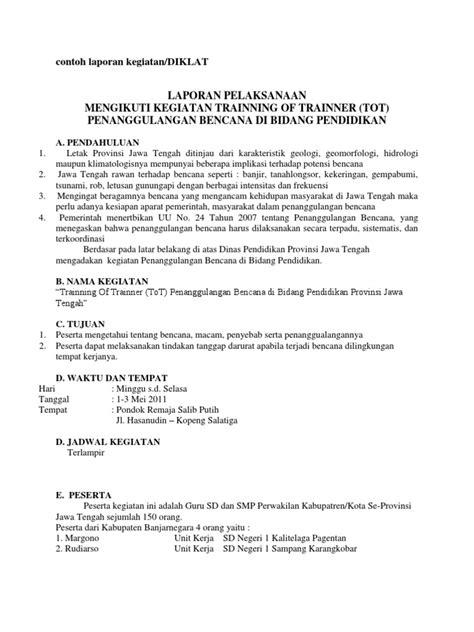 format laporan hasil kegiatan contoh laporan kegiatan