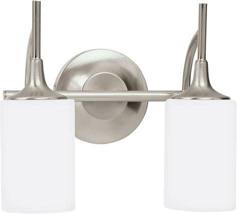 brushed nickel sconces bathroom seagull 44953en 962 stirling brushed nickel led 2 light