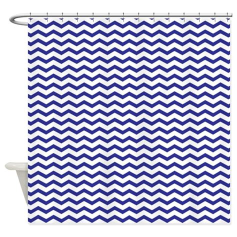 Navy Blue Chevron Curtains Navy Blue Chevron Shower Curtain By Inspirationzstore