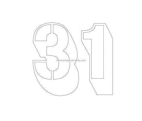 engraving templates free engraving 31 number stencil freenumberstencils