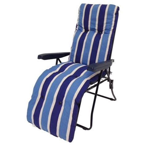 garden reclining chairs buy culcita padded reclining garden chair blue from our