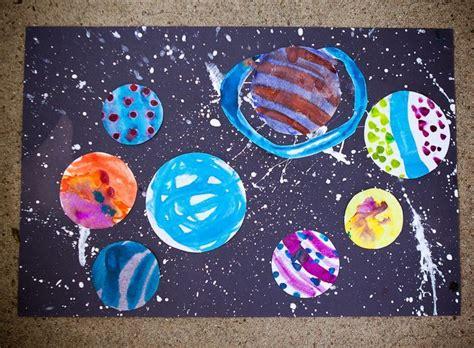 solar system craft for splatter paint water color solar system sistema solar