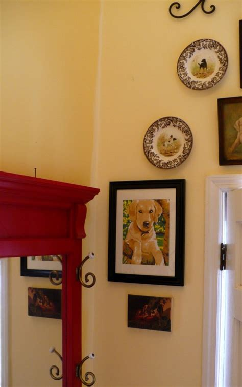 halltree golden retrievers foyer gallery wall a cultivated nest