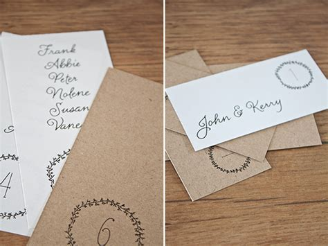 free printable wedding escort cards and table numbers