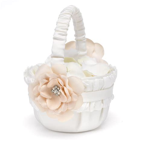 Flower Wedding Baskets by Beautiful Blossom Flower Basket Invitations By