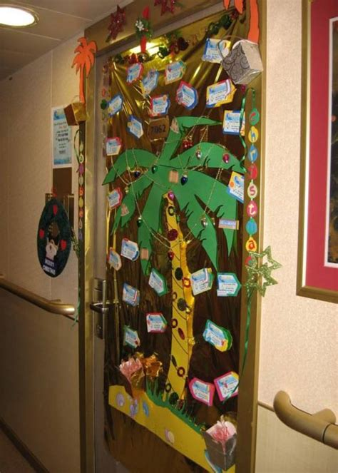 christmas office door decorating ideas home trendy