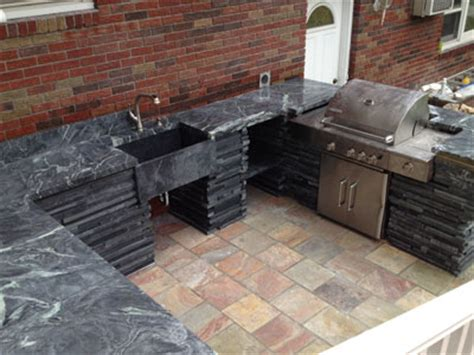 outdoor kitchen countertops and tile options