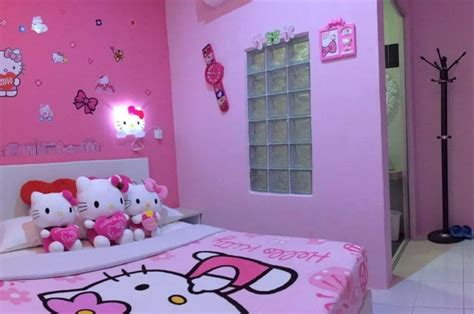 adorable  kitty bedroom decoration ideas  girls