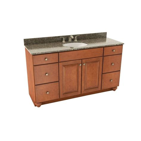 st paul valencia 61 in vanity in chestnut with color