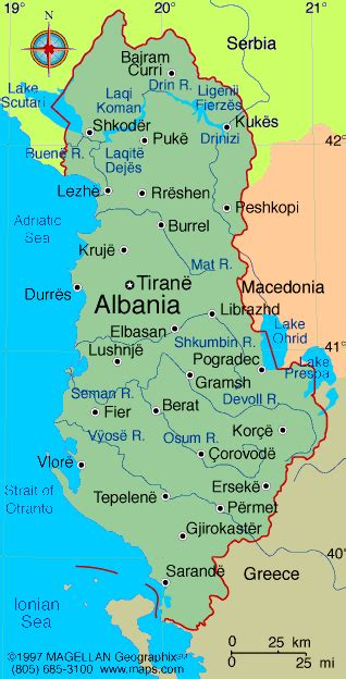 albania political map albania map and albania satellite images