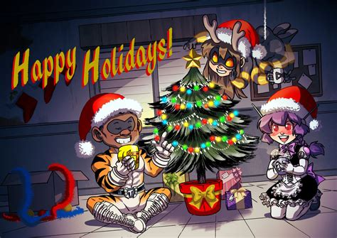 Happy Holidays Dc Nearlyweds by Happy Holidays From The Spinnerette Team By Krazykrow On